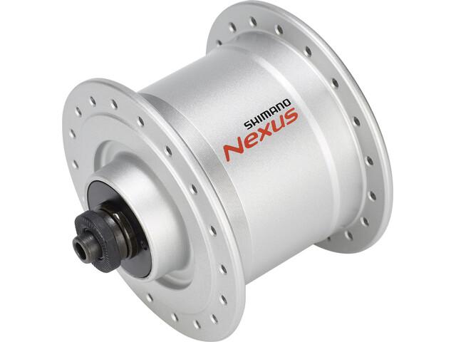 Shimano Nexus DH-C3000-3N Naafdynamo 3 Watt voor velgrem/snelspanner, silver